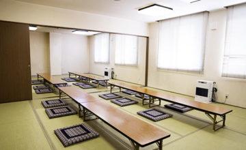 余市の斎場・葬儀場の服部斎場の中控室