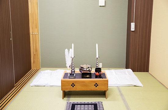 余市の斎場・葬儀場の家族葬ホールこころ斎場の安置・霊安室